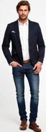 Как мужчинам носить пиджак с джинсами и с чем его лучше надевать